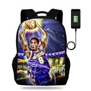 "Kobe Bryant 17"" Backpack with USB Port & Speaker"